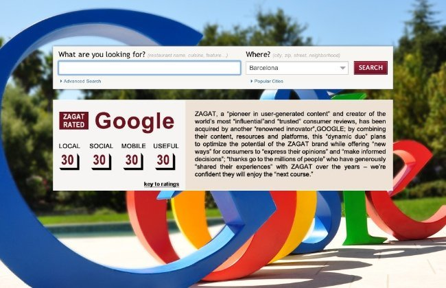 zagat google mensaje comunicado