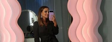 Paula Echevarría luce el look perfecto para la noche: vestido negro corto de Zara del que hemos encontrado cinco alternativas