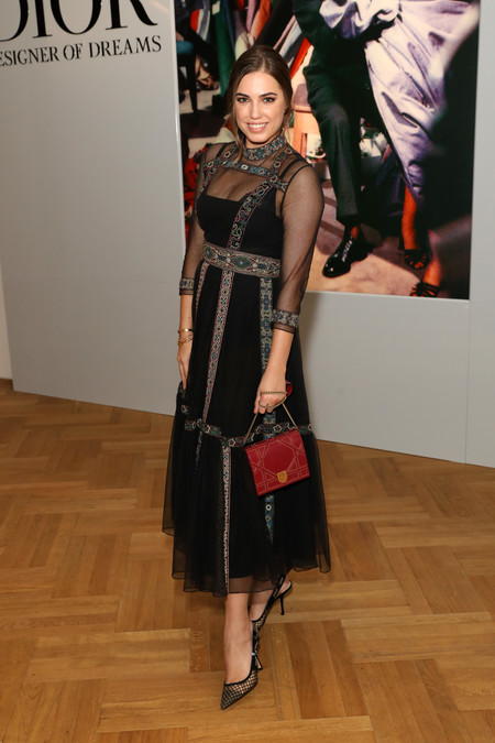 Amber Le Bon At The Christian Dior Exhibition In London