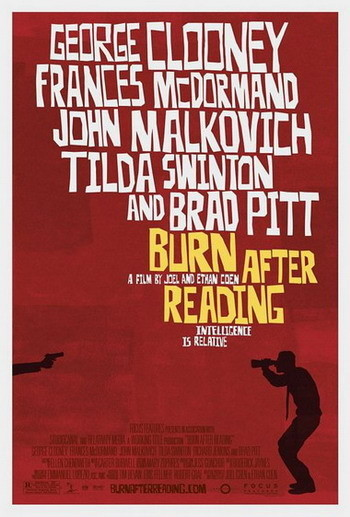 'Burn After Reading' de los Coen, póster