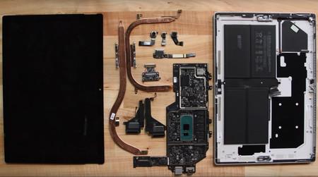 Para iFixit, el Surface Pro 7 es un dispositivo muy difícil de reparar: consigue una puntuación de uno sobre diez
