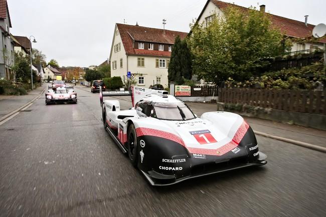 Porsche saca los LMP1 de paseo por Alemania para despedir un año de récords