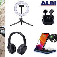 ALDI lanza en España dos nuevos auriculares, una lámpara LED, un cargador Qi y un altavoz Bluetooth a partir de 9,99 euros