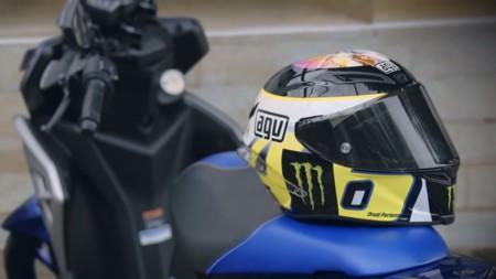 Yamaha Aerox 125LC y Valentino Rossi, promoción para Asia