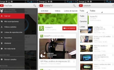 YouTube búsqueda canales 5.3.23