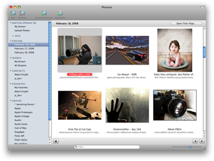 Photonic, cliente de Flickr para Mac