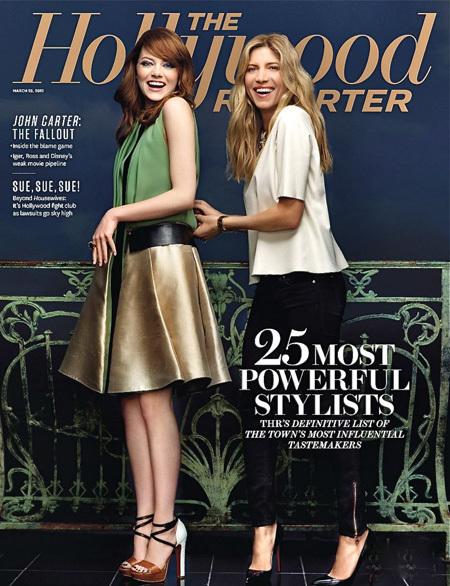 Emma Stone con Petra Flannery