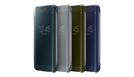 Clear View Cover Case For Samsung Galaxy S6 Edge