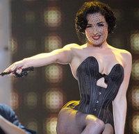 Dita Von Teese estuvo en Eurovisión aunque censurada