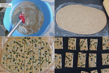 Crackers de Espelta. Pasos