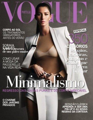 Gisele Bundchen en la portada de Vogue Portugal: el minimalismo está en todos los lados