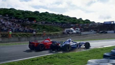 Villeneuve Schumacher Jerez F1 1997