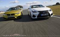 Lexus RC F contra BMW M4 Coupé, comparativa (parte 3)