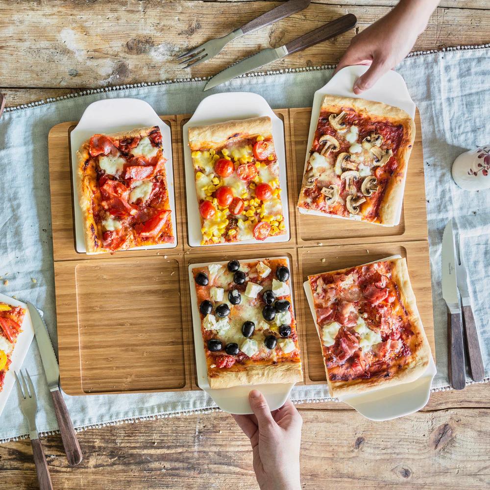 Bandeja para pizza rectangular