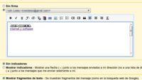 Gmail permite insertar firmas de texto enriquecido