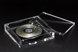 Un CD fabricado con cristal