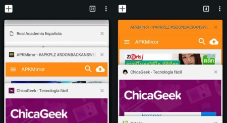 Chrome 53 Dev experimenta con añadir colores a vista de pestañas abiertas