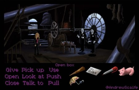 Así sería Buffy si fuera una aventura gráfica de LucasArts