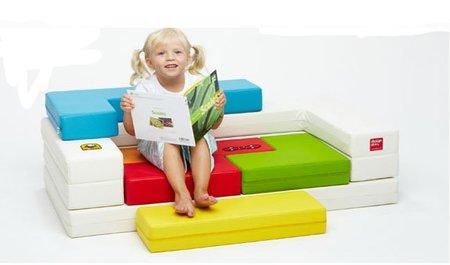 Sofá puzzle para la habitación infantil