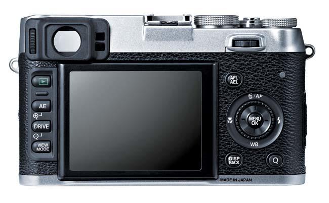 Fujifilm X100S vista trasera