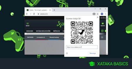 Cómo crear un código QR para compartir una web en Chrome