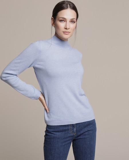 Jersey de mujer 100% Cashmere con cuello perkins