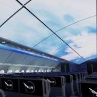 En un futuro, el interior del avión podría integrar un sorprendente sistema de pantallas