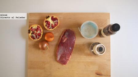 Pato con salsa de granada - ingredientes