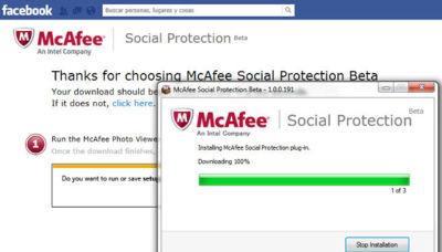 McAffe Social Protection te ayuda a mantener el control de tus fotos en Facebook