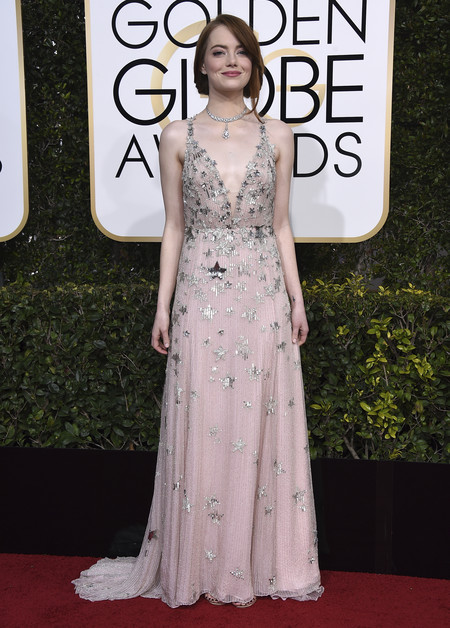 Emma Stone De Valentino Globos De Oro 2017 3