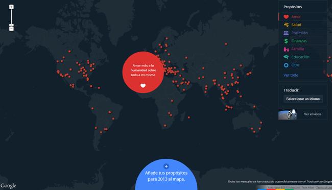 Google propósitos y deseos 2013