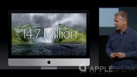 iMac Retina, 14,7 millones de píxeles en una pantalla de 27 pulgadas
