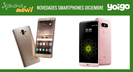 Huawei Mate 9 y LG G5 SE, novedades del catálogo de Yoigo en diciembre y sus precios