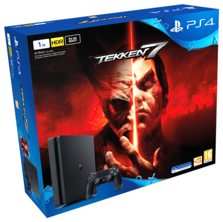 Consola Sony PlayStation 4 de 1TB, con 2 mandos y el juego Tekken 7, por 299 euros