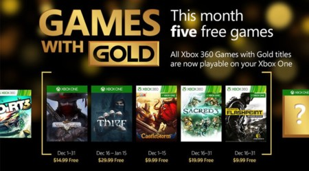 Thief, Operation Flashpoint: Dragon Rising y Sacred 3 lideran los Games With Gold del mes de diciembre