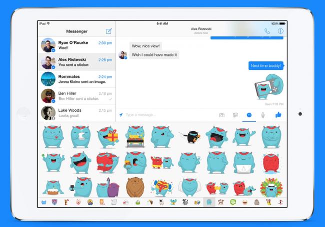 Facebook Messenger llega al iPad