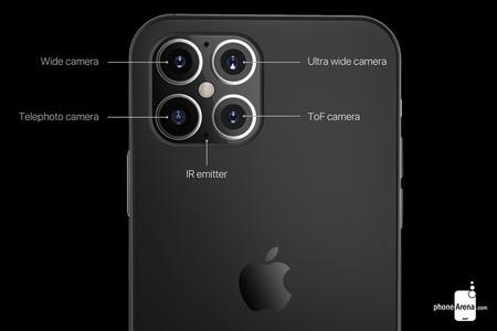 Iphone 12 Concepto camara