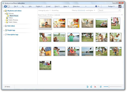 Windows Live Photo Gallery Wave 3