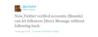 Twitter ahora permite a las cuentas verificadas recibir DM de usuarios que no les sigan