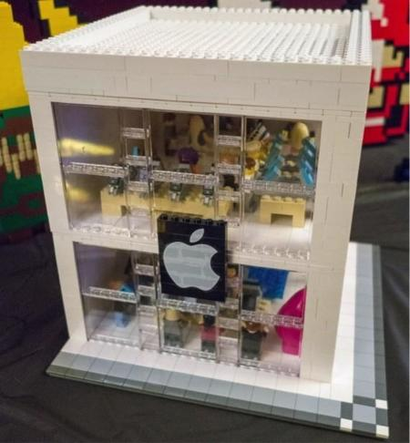 Apple Store creada con LEGO