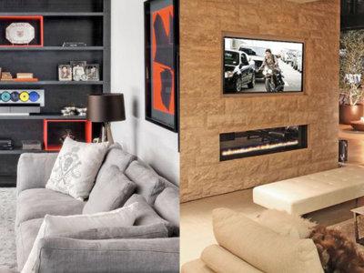 13 diferentes formas de integrar y colocar el televisor en casa