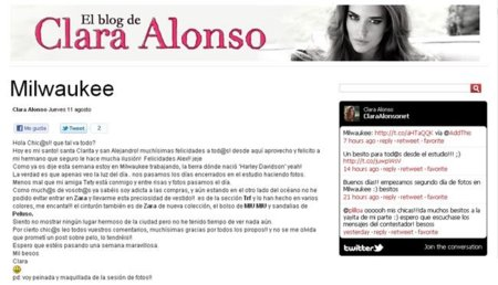 Clara Alonso blog