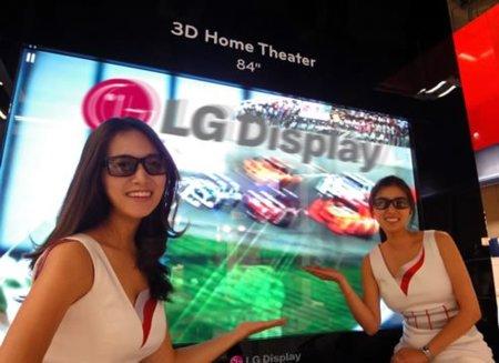 84 pulgadas en 3D, una realidad de la mano de LG