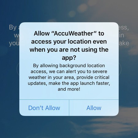 Aviso Accuweather Ios