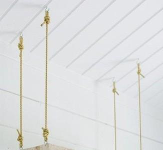 Hazlo tú mismo: un estante que cuelga desde el techo