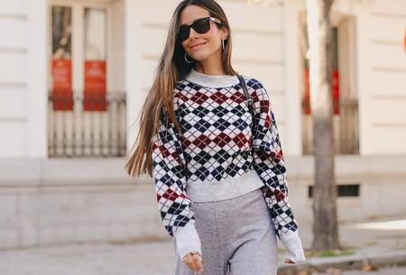Los jerséis de rombos nos recuerdan al uniforme del colegio: ocho modelos muy preppys que queremos en el armario