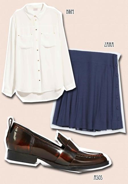 falda basicos moda look