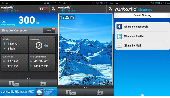 Runtastic Altimeter para Android