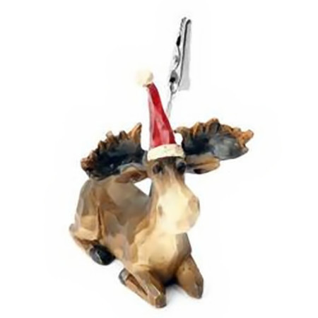 Decoración Navideña: Pinza con forma de reno para sostener tarjetas
