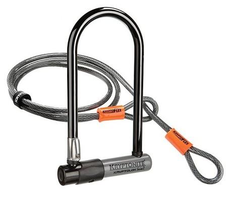 Protege tu bici con el candado en U  Kryptonite Kryptolok Serie 2 Ls por sólo 24,30 euros en Amazon